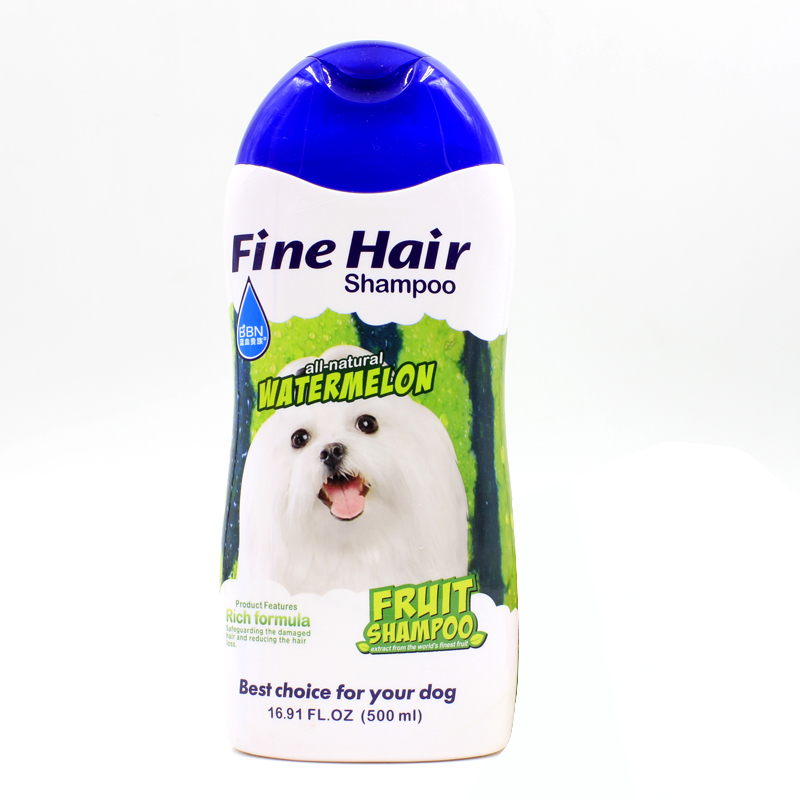 Organic fruit dog shampoo