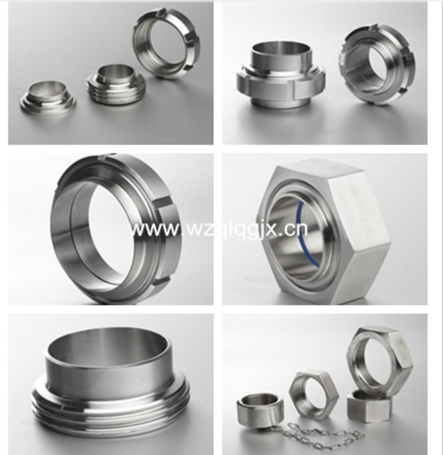 China Manufacture Stainless Steel Fitting Sanitary Union Hexagon Nut