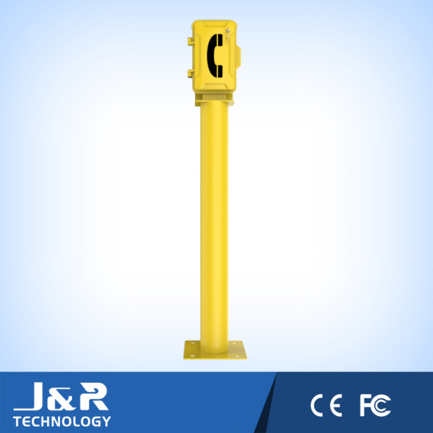 Outdoor Telephone with Pole, Roadside Telephone Pillars, GSM Remote Telephone