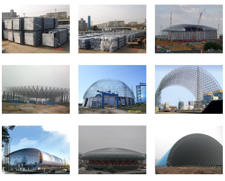 Light Steel Bolted Ball Space Frame Barrel Coal Storage