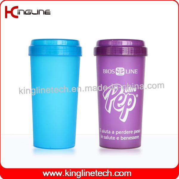 BPA Free, 500ml Plastic Protein Shaker Bottle (KL-7036)