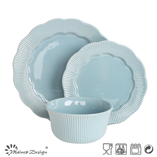 16PCS Embossed Dinner Set Wholesale