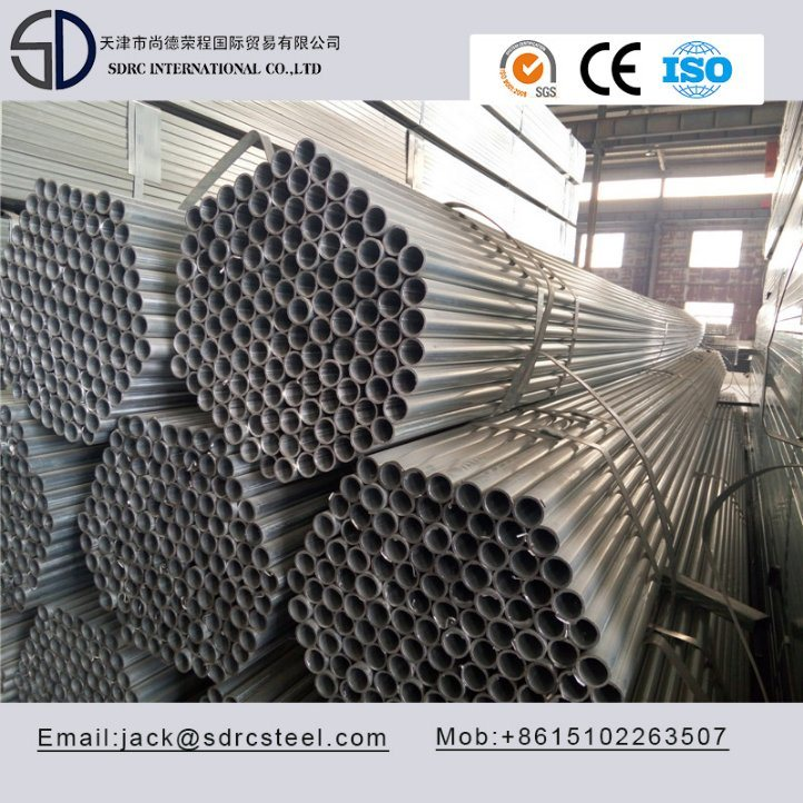 S235jo Round Pre-Galvanized Steel Pipe/Steel Tube