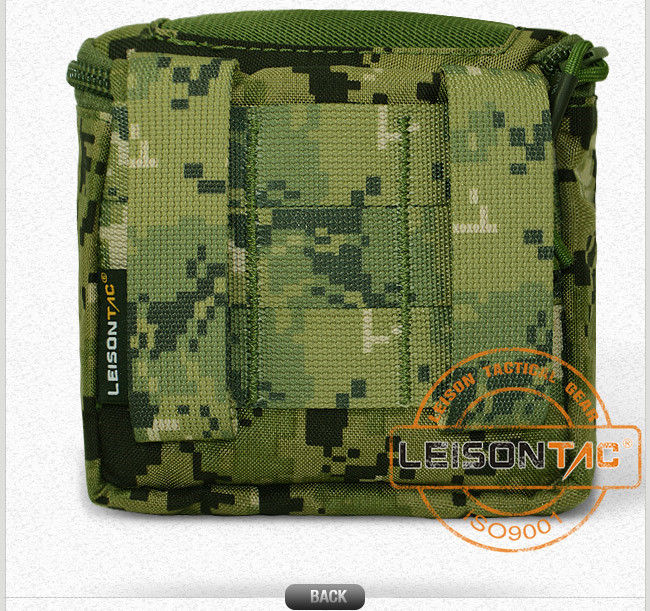Small Tactical Pouch with Molle Adopts 1000d High Strength Nylon Being Stitched by High Strength Nylon Thread