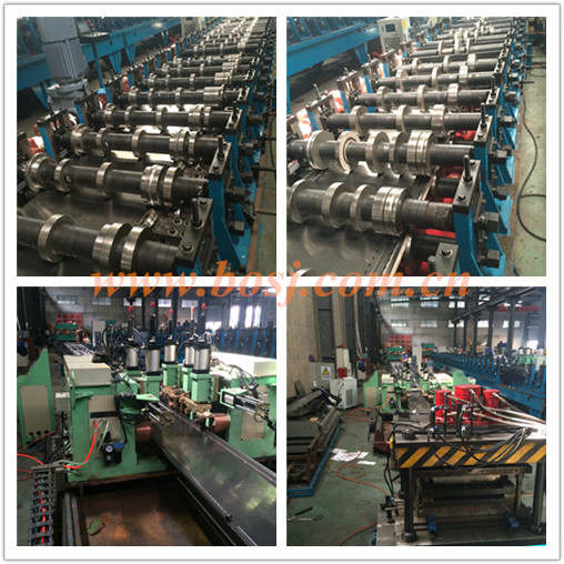 Supermarket Steel Shelf Storage Deck Panel Roll Forming Machine