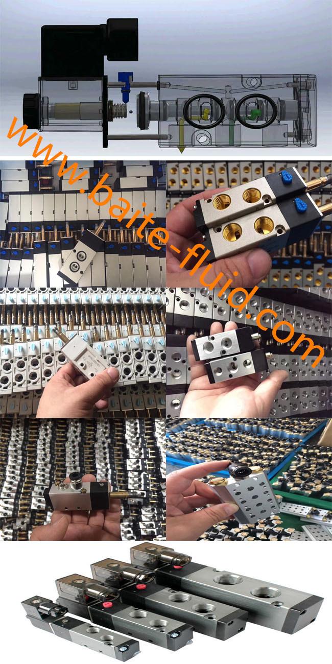 4V230c-08 2 Position 3 Way Solenoid Pneumatic Control Valve