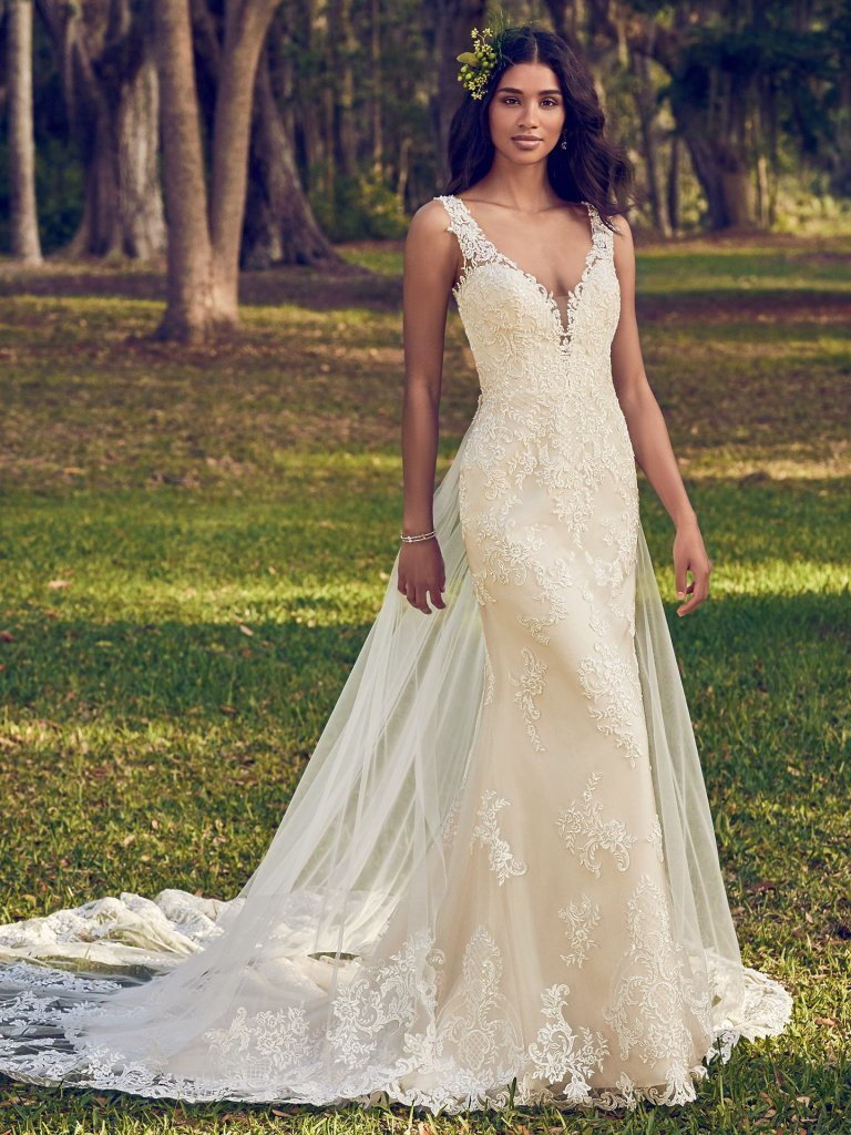 Sleeveless Bridal Gowns Mermaid Lace Beads Wedding Dresses Mz499