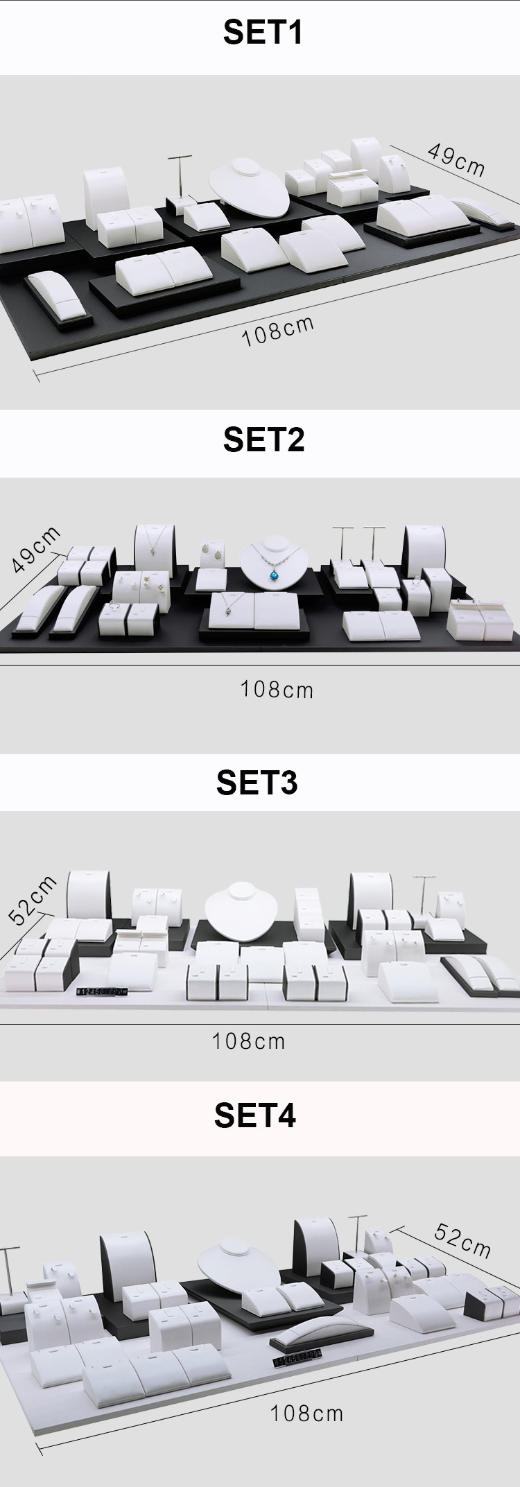 Jewelry Collection Counter Display Sets