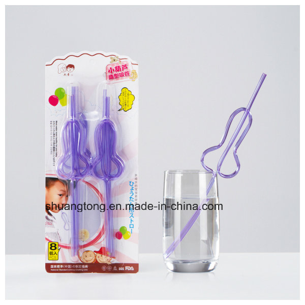 Pet Material Hard Multi-Shaped Crazy Straw