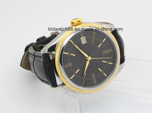 Antique Golden Brass Case Wrist Watches for Men