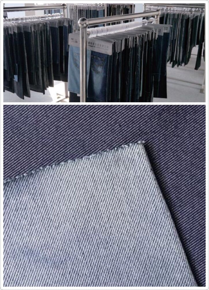 Denim Fabric Indigo Ribbed Twill Denim Fabric