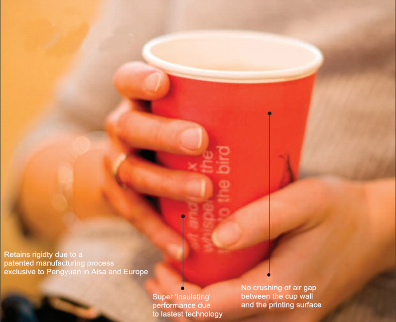 Printed Paper Cup Sleeves for Hot Drinking