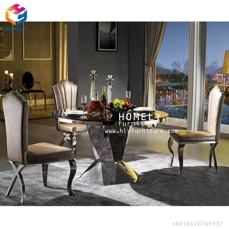 Modern New Design Stackble Velvet Leather Hotel Banquet Party Event Wedding Metal Rose Gold Stainless Steel Dining Chairs Hy-St