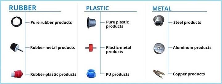 Durable Impact Resistant NBR Nitrile Rubber Shaft Block