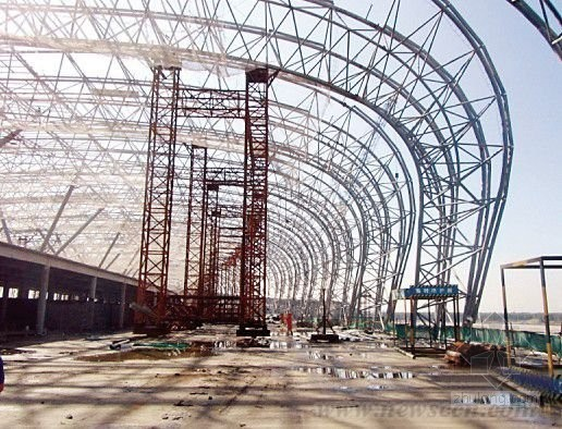 Steel Frame Dome Shed, Steel Truss Structure