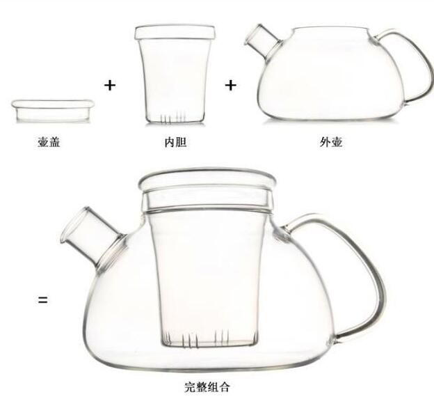 Customeized Heat Resistance Glass Tea Pot with Infusion