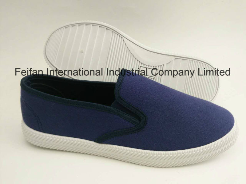 Wholesale Men Canvas Injection Shoes, Slip-on Casual Footwear Loafer