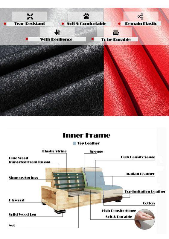 Modern Living Room U Shape Leather Sofa (LZ-122)
