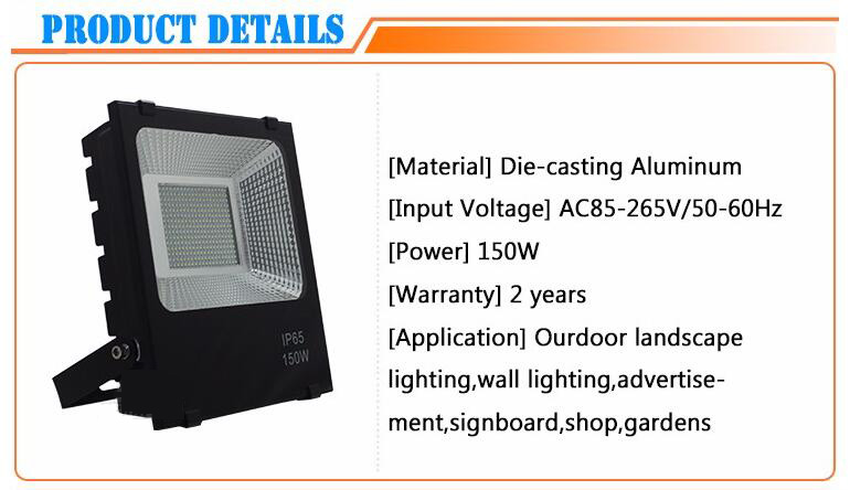 High Power Ultra Thin Most Powerful SMD Slim 150W LED Flood Light