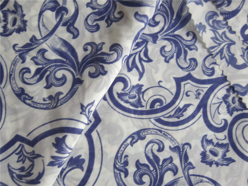 75D Printed Polyester Crepe Chiffon Fabric for Dress