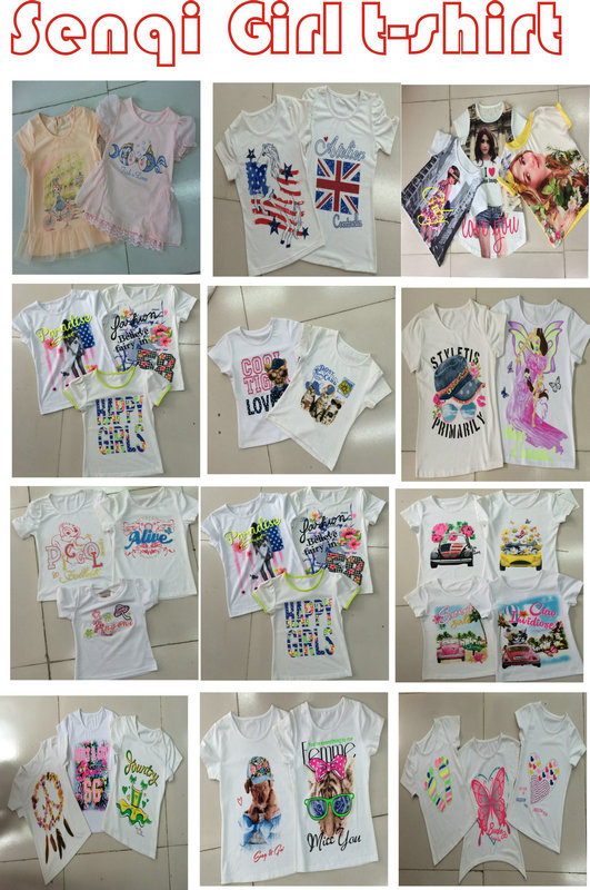 Flower Children Clothes in Kids Suit with Print in Shorts SGS-101