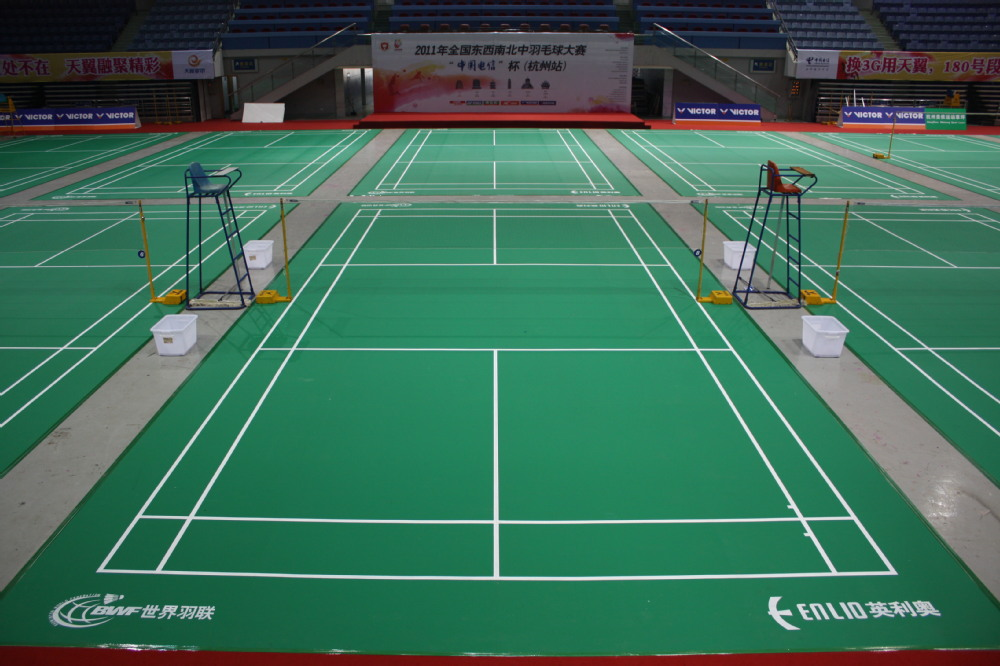 sports flooring for badminton