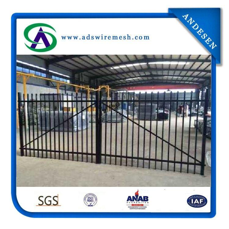 Welded Commercial Decoratiive Steel Fence/Ornamental Metal Fence