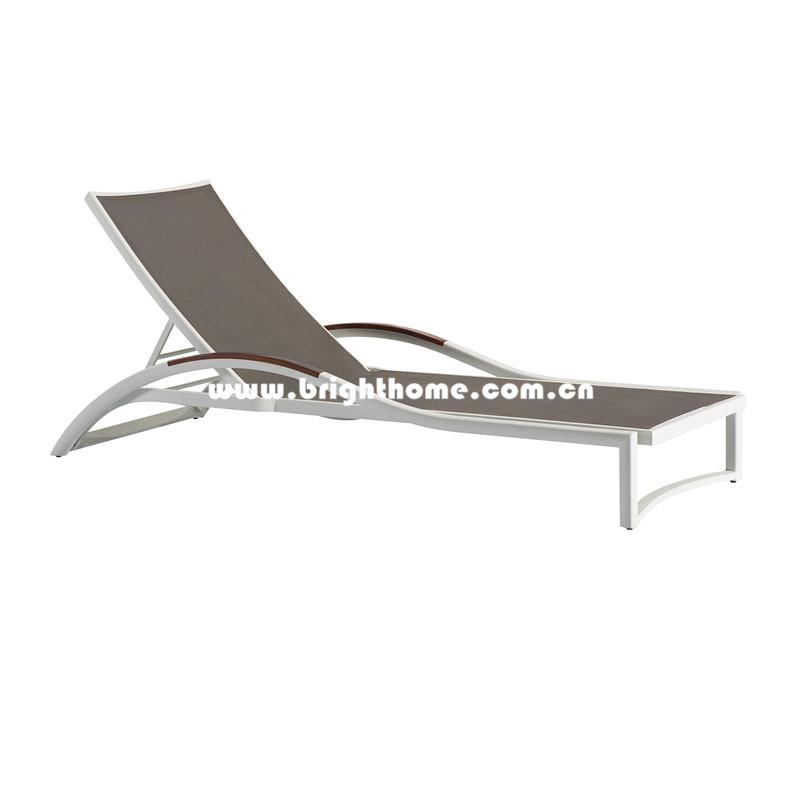 Hot Sale Aluminum and Textilene Outdoor Sun Lounger
