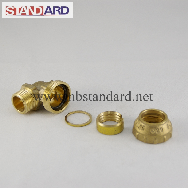 Brass Male Coupling PE Fitting