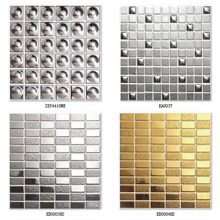 Silver Ceramic Mosaic