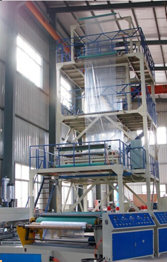 Sj500-1700 3/5/7 Layer Blown-Down 3-Layer Co-Extrusion Film Production Line