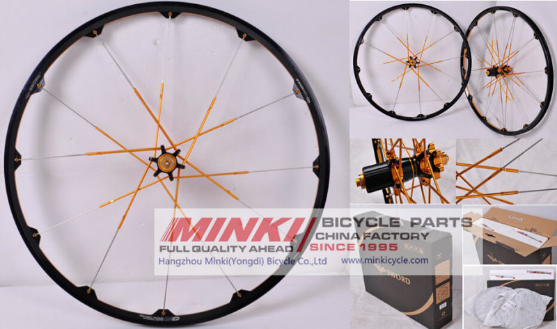 Alloy 26'' 100 % Handmade OEM Custom Made MTB Wheelset