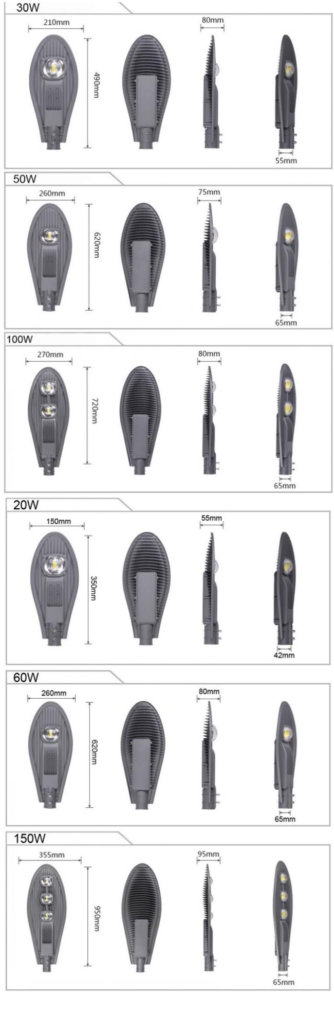 5 Years Warranty Ce RoHS TUV Outdoor 20W LED Street Light IP65 Waterproof Road Light