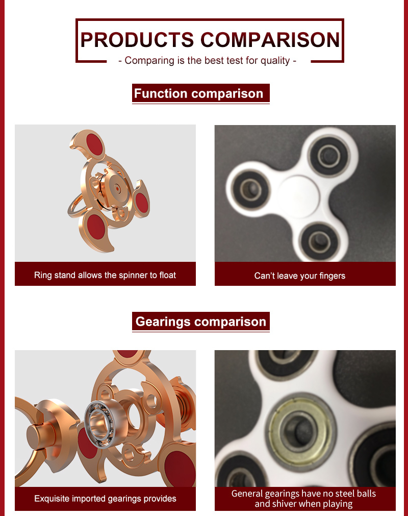 2017 Newest Style Air Rotating Spinner Toys Fidget Spinner for Brass Relieve Stress