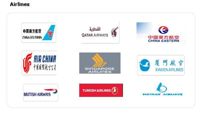 Air Logistics Service for Fabrics Accessories From Qingdao/Xiamen/Guangzhou to Bangladesh