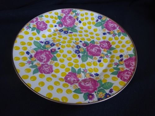New Design Enamel Round Painted Plate Fruit Dish