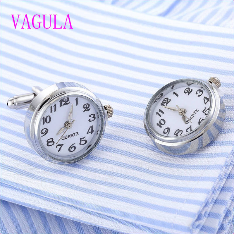 VAGULA Quality Hot Sales Watch Gemelos Silver Cufflinks  (328)