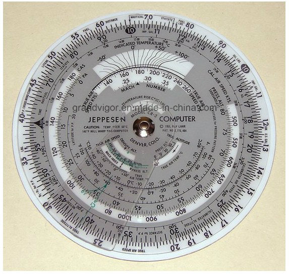 Plastic Circular Flight Computer for Flight Planning