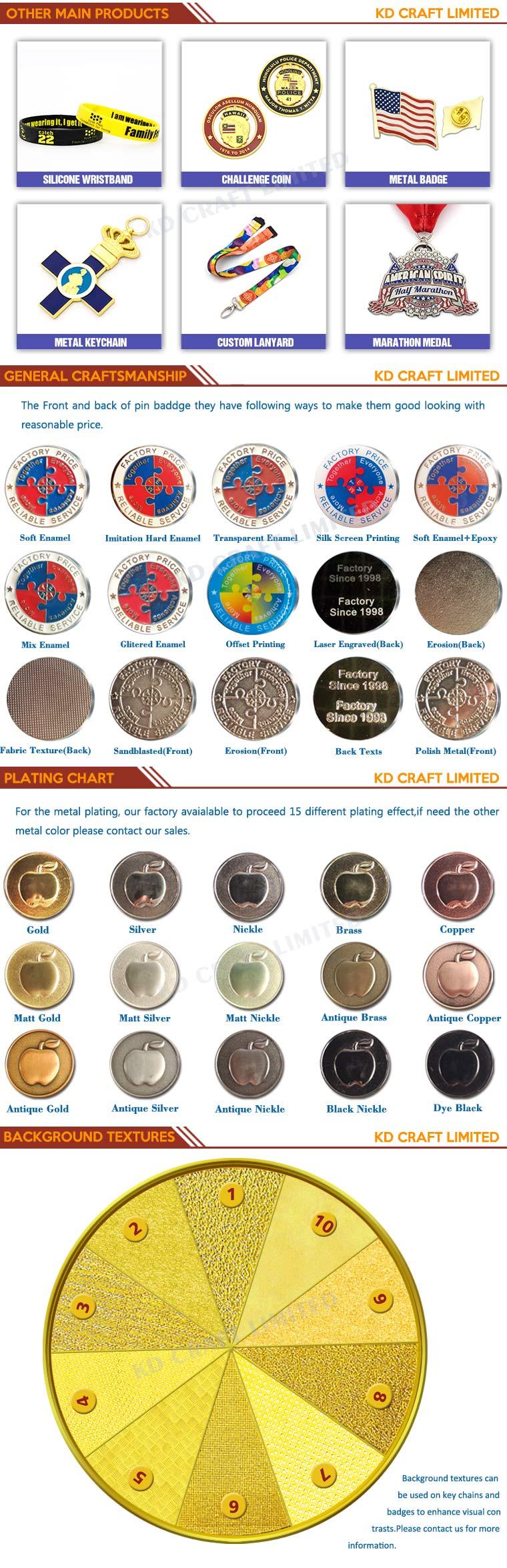 Supply Customized High Quality Zinc Alloy Imitation Enamel Honor Medal for High School