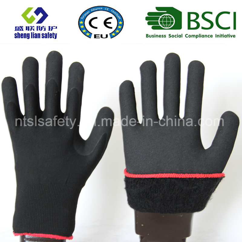Nitrile Coating, Sandy Finish Safety Work Gloves (SL-NS113)