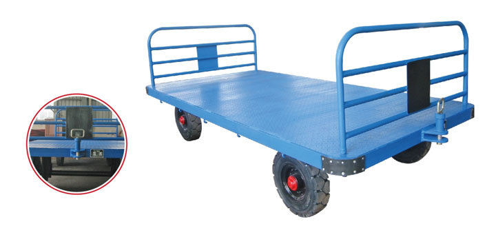 Airport Three-Rail Baggage Cart