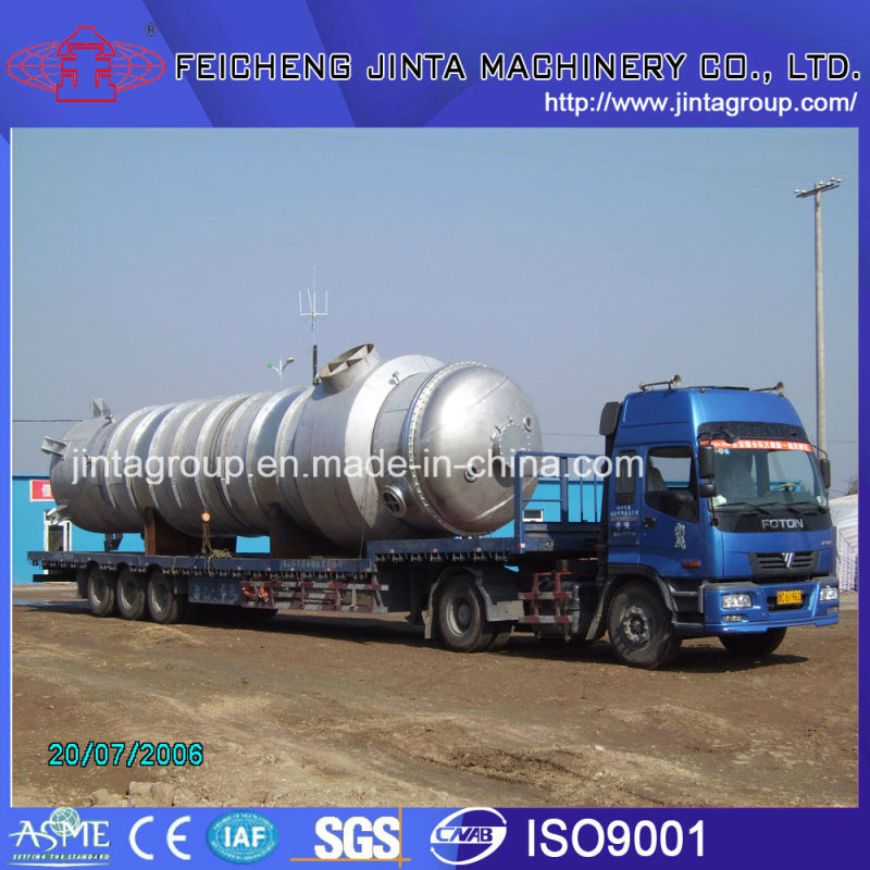 Chemical and High Salinity Wastewater Mltiple-Effect Forced Circulation Evaporator