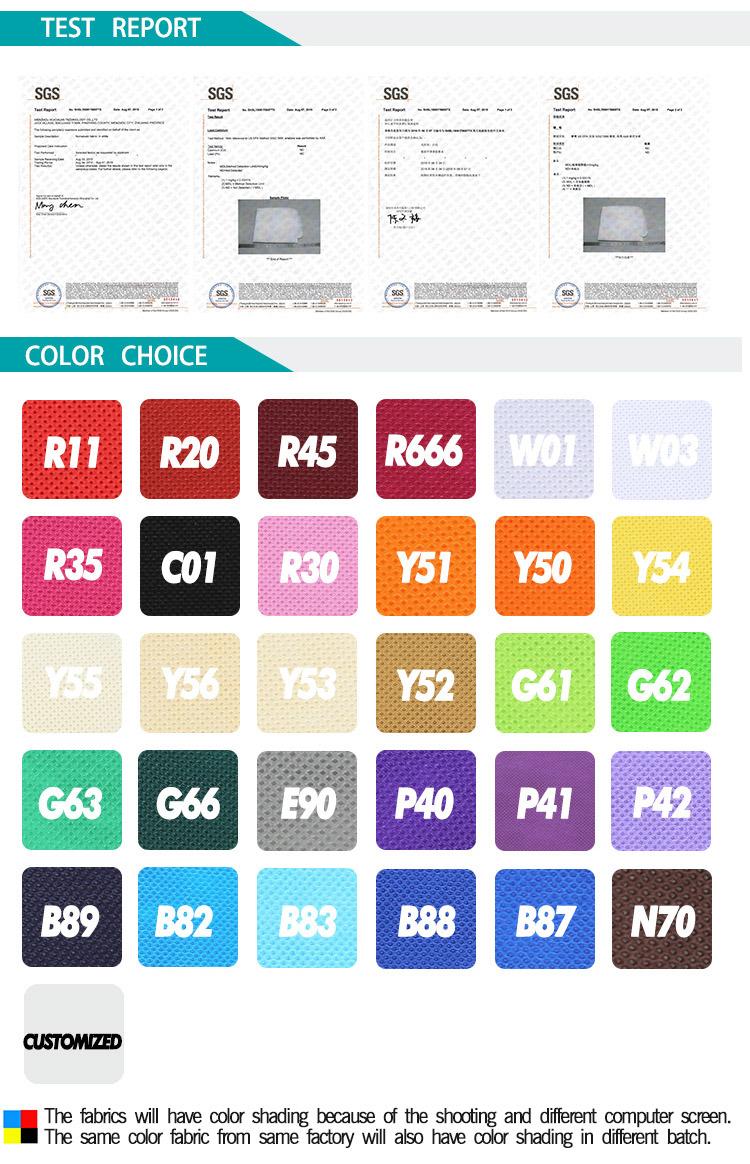 Colorfull Ultrasonic PP Non Woven Shopping Bag