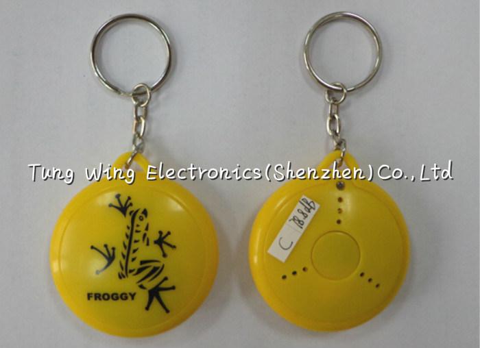ABS, Metal Round Shaped Music Keychain, Cute Music Box Keychain