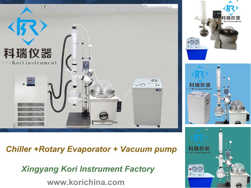 Widely Used Lab Glass Distillation with Collection Flask Flash Rotary Evaporator