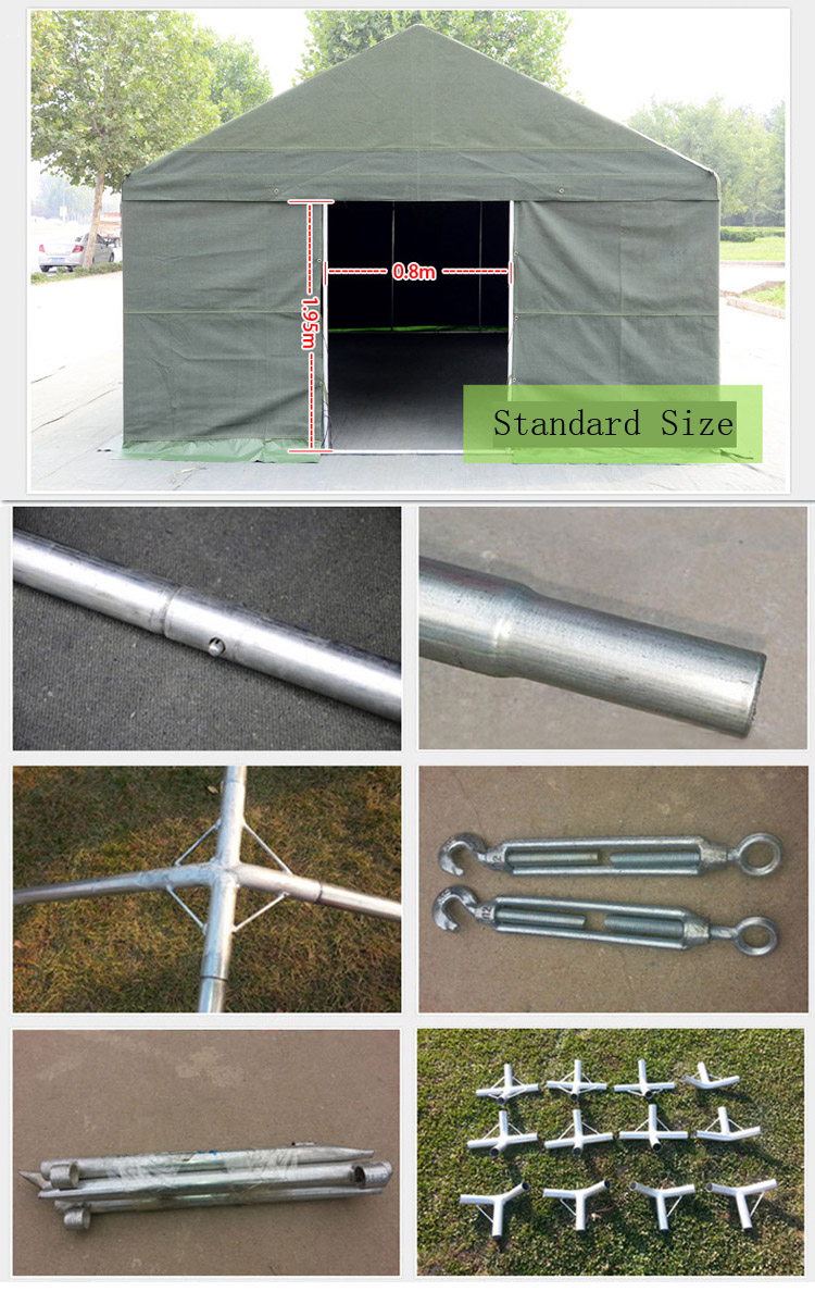 (5*5) Aluminum Tension Frame Disaster Relief Tents