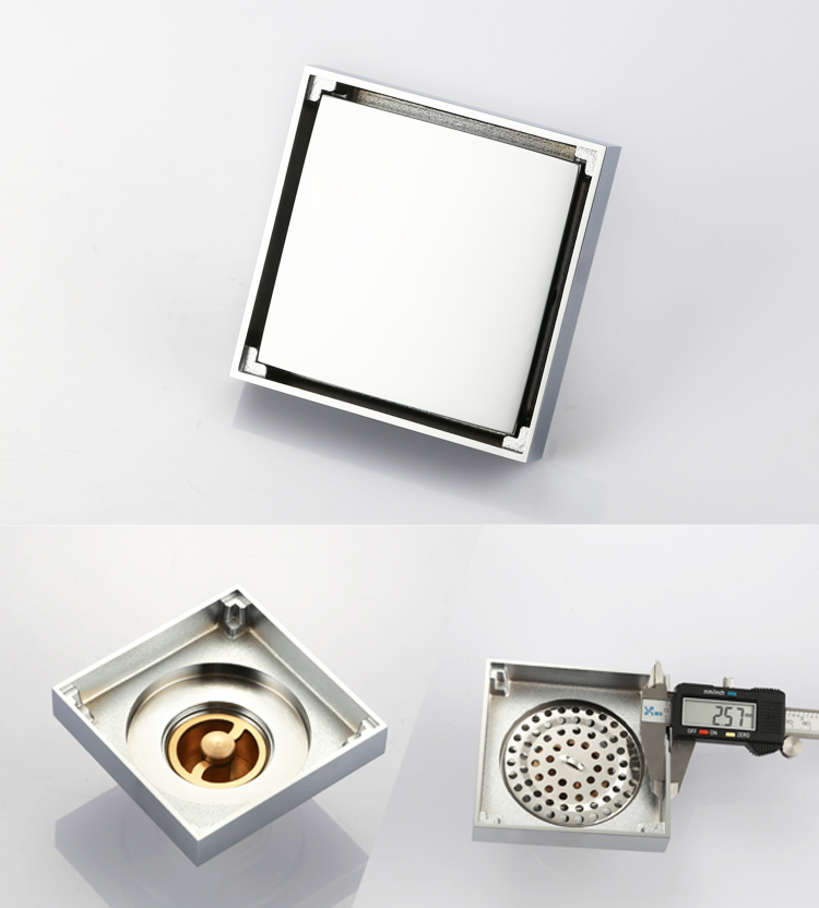 Square Shower Floor Drain with Tile Insert Grate Bathroom Fittings with Cheap Price