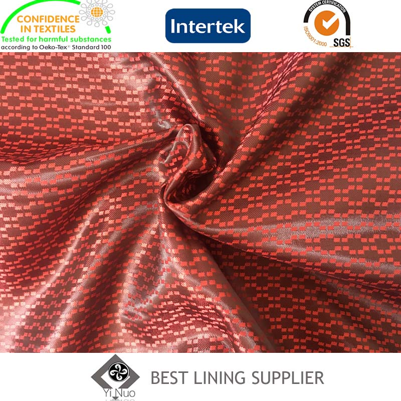 100 Polyester 120G/M Men's Suit Satin Dobby Lining Fabric