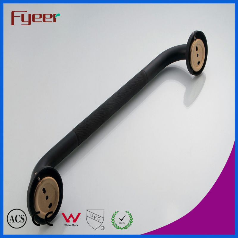Fyeer Black Series Bathroom Accessory Brass Antislip Safety Grab Bars