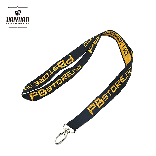 Custom Woven Logo Polyester Lanyards for Promotion
